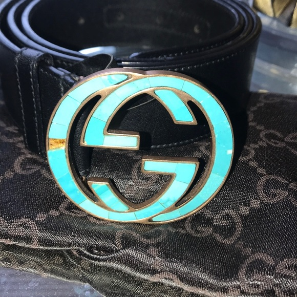 Gucci Accessories - GUCCI Belt Sz 95 38 inches Double G Buckle